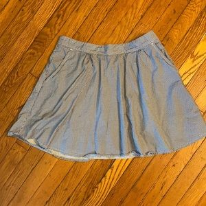 Blue and white skirt with shorts underneath sz S